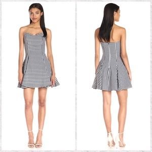 Lucca Strapless Gingham A-Line Dress